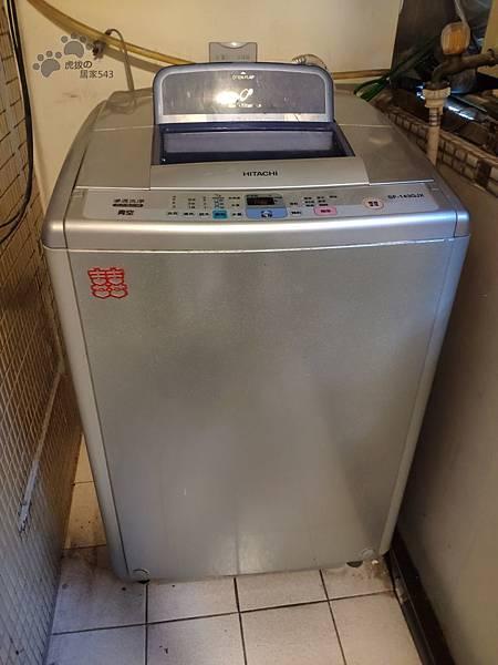 洗衣機內桶清洗DIY-示範機型日立SF-143GJX