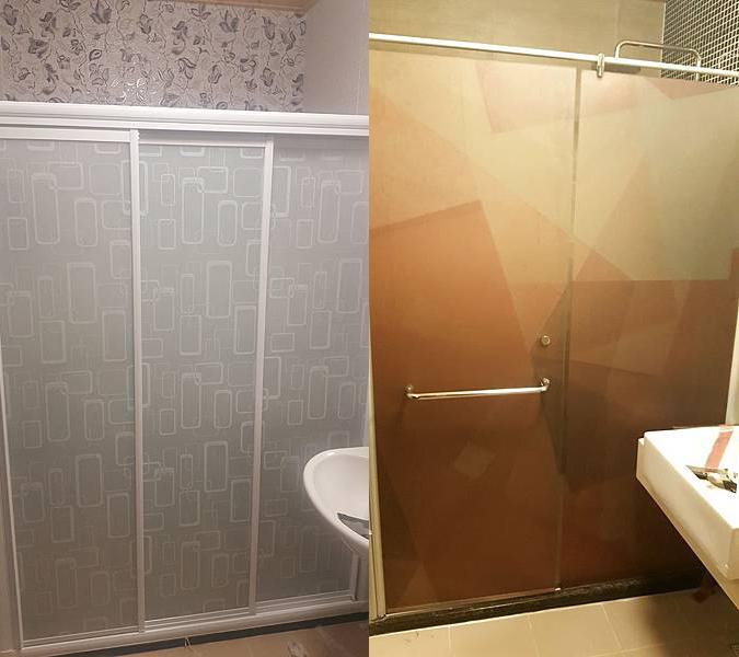 浴室乾濕分離玻璃貼,自己動手來!
